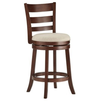 Verona Home Upland Swivel Barstool in Charcoal
