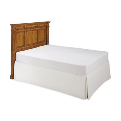 Americana Queen Bed in White and Oak