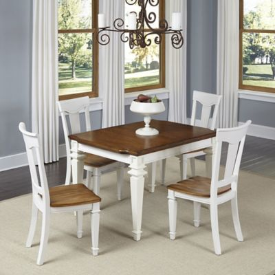 Home Styles Americana 5-Piece Dining Set in White/Oak