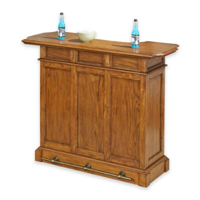 Home Styles Americana Bar in White/Oak