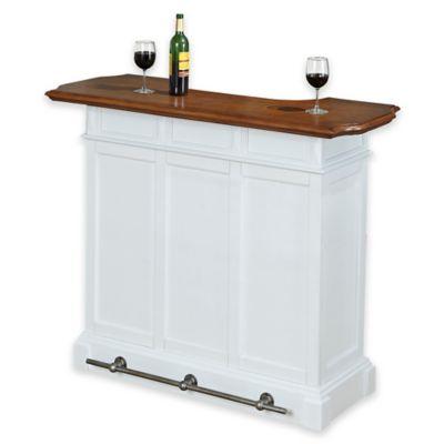 Home Styles Americana Bar in White/Oak