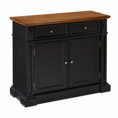 Home Styles Americana Buffet in Black/Oak