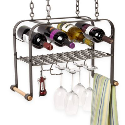Black Hanging Storage Rack