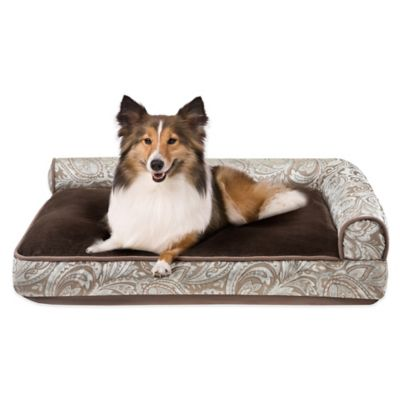 Duke Soft Touch Right Angle Bolster Pet Lounger in Paisley Multi