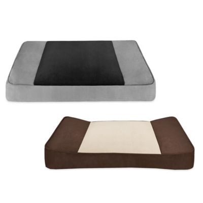 Shadow Soft Touch Stretch Pet Lounger in Black/Grey