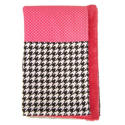 Trend Lab® Serena 2-Layer Dot and Houndstooth Receiving Blanket