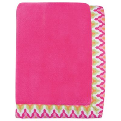Trend Lab® Savannah Coral Fleece Receiving Blanket