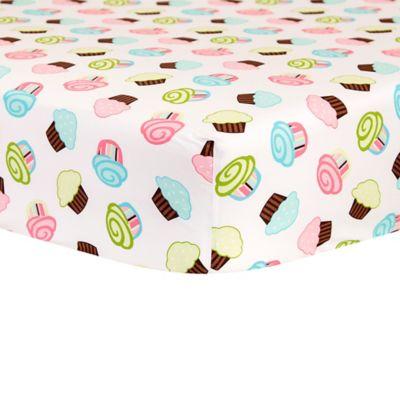 Trend Lab® Pink Sky Cupcake Scatter Crib Sheet