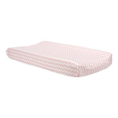Trend Lab® Pink Sky Changing Pad Cover in Chevron