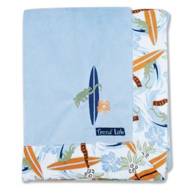 Trend Lab® Surf's Up Velour Framed Receiving Blanket