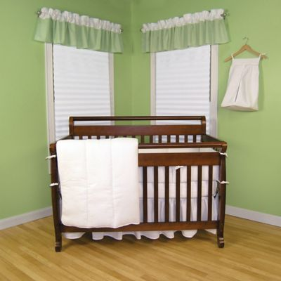 Trend Lab Pique 3-Piece Crib Bedding Set in White