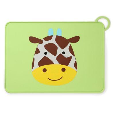 SKIP*HOP® Zoo Reusable Giraffe Fold & Go Silicone Placemat