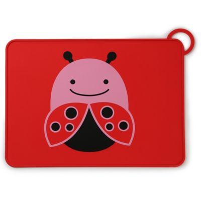 SKIP*HOP® Zoo Reusable Ladybug Fold & Go Silicone Placemat