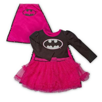 DC Comics™ Size 0-3M Batgirl Bodysuit Dress with Mesh Glitter Tutu Skirt