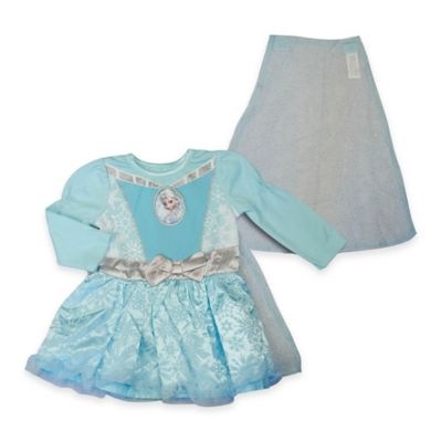 """Disney® """"Frozen"""" Size 3T Elsa Long Sleeve Caped Dress with Bow"""