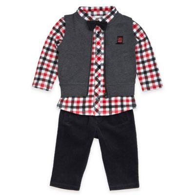 Petit Lem™ Size 3M 4-Piece Holiday Magic Shirt, Bowtie, Vest, and Pant Set
