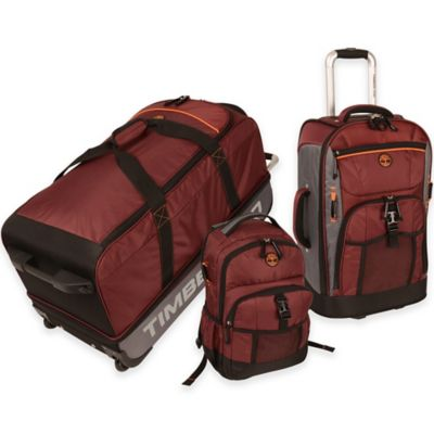Timberland® Hampton Falls 3-Piece Luggage Set in Orange/Brown