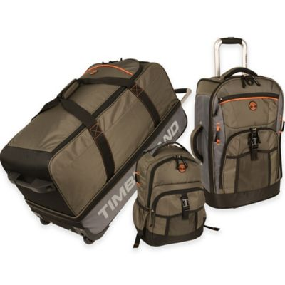 Timberland® Hampton Falls 3-Piece Luggage Set in Olive/Brown