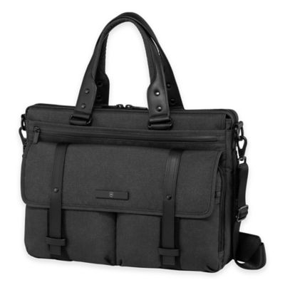Expandable Laptop Leather Briefcase