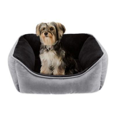 Soft Touch 21-Inch x 25-Inch Polyester Rectangular Cuddler Pet Bed in Brown