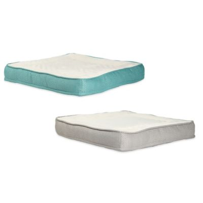 Best Friends by Sheri Small Square Pet Bed in Turquoise