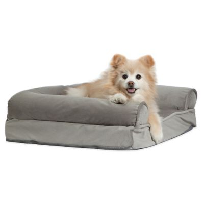 Best Friends by Sheri Bolster Sofa Pet Bed in Grey