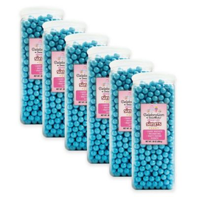 Celebration by Sweetworks® Sixlets® Party Jars in Blue (Set of 6)
