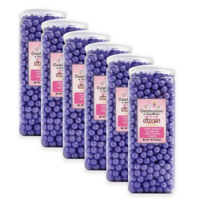 SweetWorks® Shimmer™ Sixlets® Party Jars in Lavender