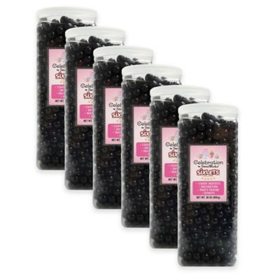SweetWorks® Sixlets® Party Jars in Black
