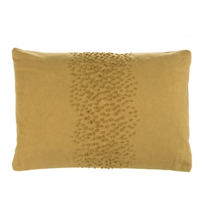 Beekman 1802 Fulton French Knot Oblong Throw Pillow in Bronze
