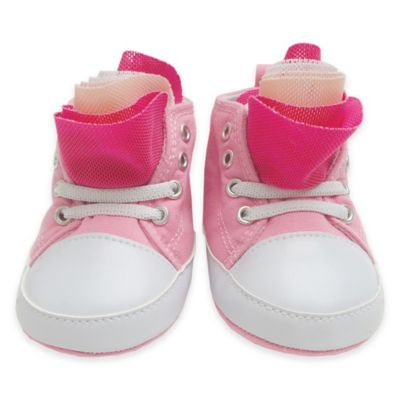 Rising Star Size 3-6M Ruffle High-Top Sneaker in Pink