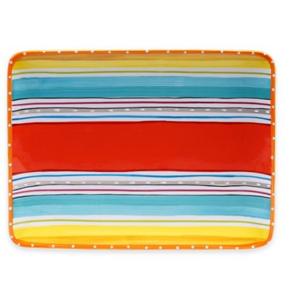 Mariachi Rectangular Platter in Multi