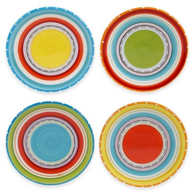 Mariachi 4-Piece Canapé Plate Set in Multi