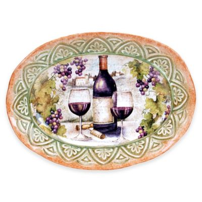 Certified International Sanctuary Wine Oval Platter