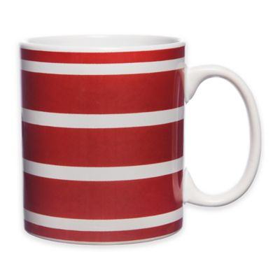 Stripes Everyday Can Mug in Red/White