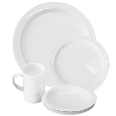 Hotel 20-Piece Dinnerware Set in White