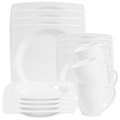 Christine 16-Piece Dinnerware Set in White