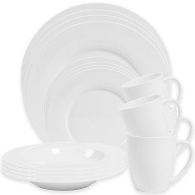 Grace 16-Piece Dinnerware Set in White