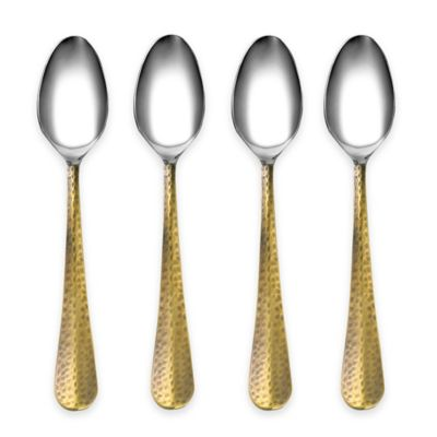 Cambridge® Silversmiths Indira Jessamine Brass Teaspoons (Set of 4)
