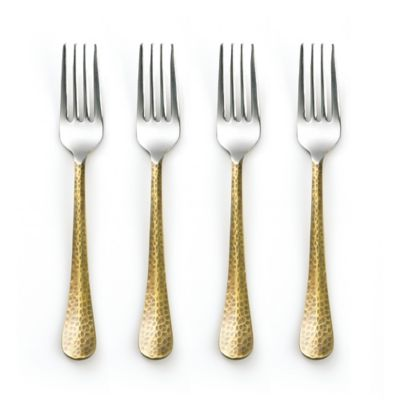 Cambridge® Silversmiths Indira Jessamine Brass Salad Forks (Set of 4)