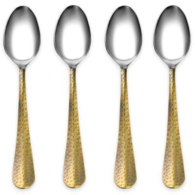 Cambridge® Silversmiths Indira Jessamine Brass Dinner Spoons (Set of 4)