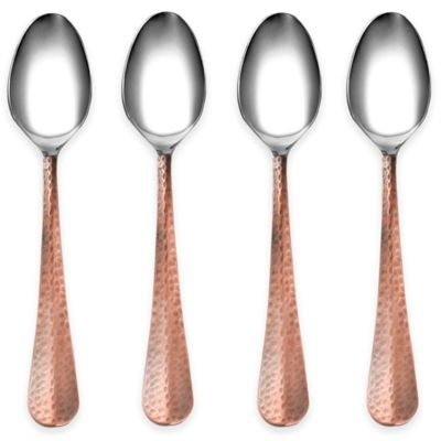 Cambridge® Silversmiths Indira Jessamine Copper Dinner Spoons (Set of 4)