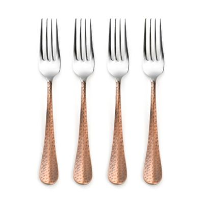 Cambridge® Silversmiths Indira Jessamine Copper Dinner Forks (Set of 4)
