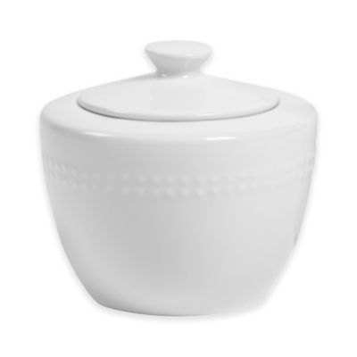 Megan Covered Sugar Bowl in White