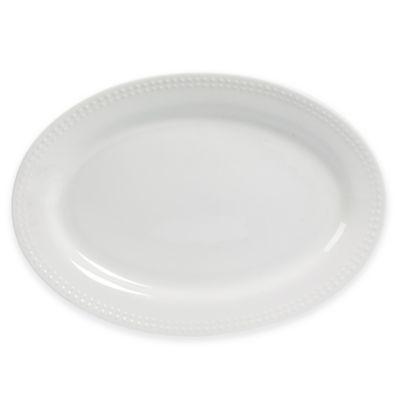 Megan 12-Inch Oval Platter in White