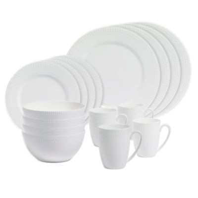 Megan 16-Piece Dinnerware Set in White