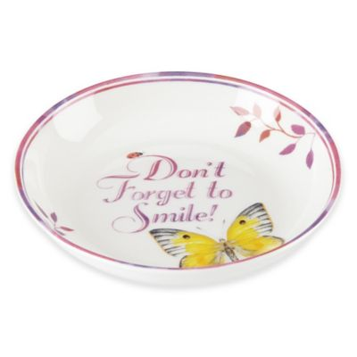 """Lenox® Butterfly Meadow® Everyday Celebrations """"Don't Forget to Smile"""" Dish"""