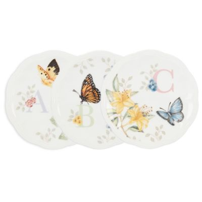 """Lenox® Butterfly Meadow® Monogrammed Letter """"A"""" Small Dish"""