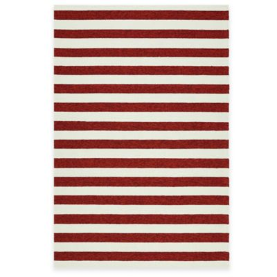 Kaleen Escape Stripes 8-Foot x 10-Foot Indoor/Outdoor Rug in Green