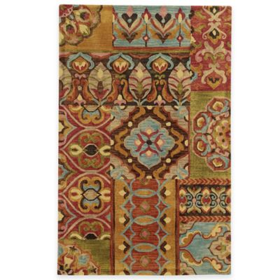 Tommy Bahama® Jamison Patchwork 3-Foot 6-Inch x 5-Foot 6-Inch Area Rug in Red